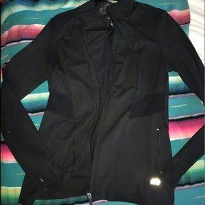Athletic black zip up jacket